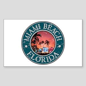 Miami Beach, Florida Sticker (Rectangle)