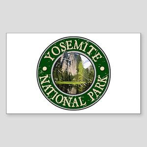 Yosemite Nat Park Design 2 Sticker (Rectangle)