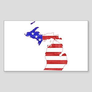 Michigan Flag Sticker (Rectangle)