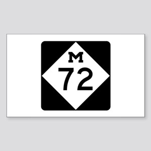 M-72, Michigan Sticker (Rectangle)