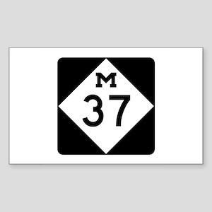M-37, Michigan Sticker (Rectangle)