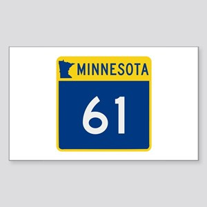 Trunk Highway 61, Minnesota Sticker (Rectangle)