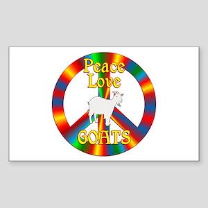 Peace Love Goats Sticker (Rectangle)