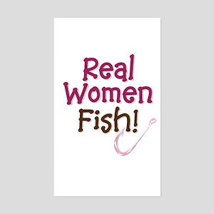 Real Women Fish Rectangle Sticker