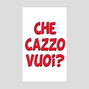 italian Che Cazzo Vuoi Rectangle Sticker