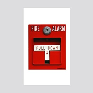 FIRE ALARM Rectangle Sticker