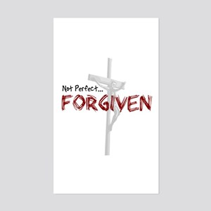Not Perfect... Forgiven Sticker (Rectangle)