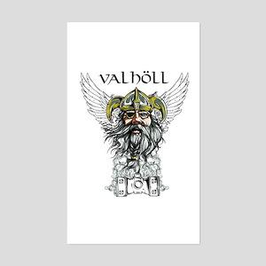 Valhöll Viking Warrior Sticker (Rectangle)