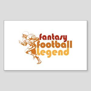Retro Fantasy Football Legend Rectangle Sticker