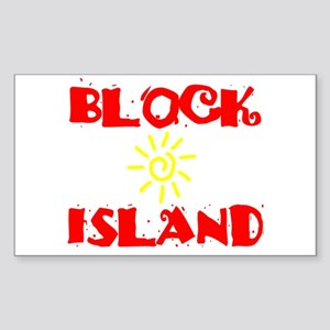 BLOCK ISLAND III Sticker (Rectangle)