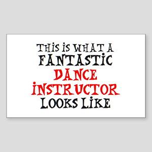 fantastic dance instructor2 Sticker (Rectangle)