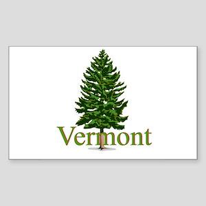 Vermont Rectangle Sticker