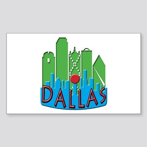 Dallas Skyline NewWave Primary Sticker (Rectangle)