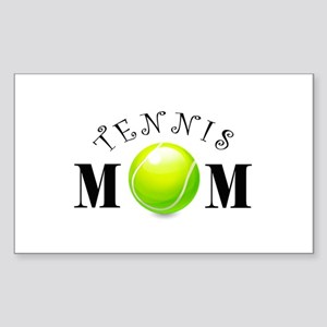 Tennis Mom (swirls) Sticker (Rectangle)