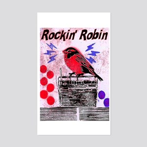 ROCKIN' ROBIN Rectangle Sticker