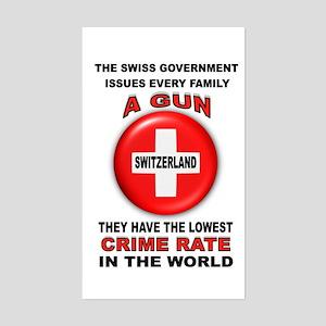 GUN FACTS Sticker (Rectangle)