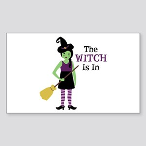 The Witch Is In Sticker