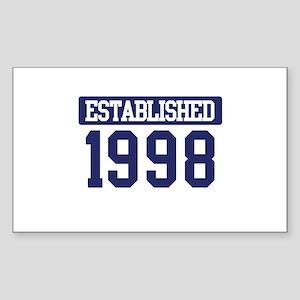 Established 1998 Rectangle Sticker