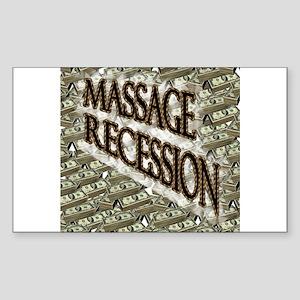 Massage Recession Rectangle Sticker