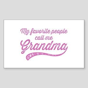Call Me Grandma Sticker (Rectangle)