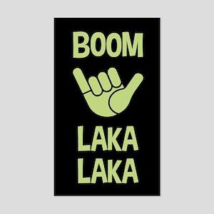 Boom Shaka Wave Sticker (Rectangle)