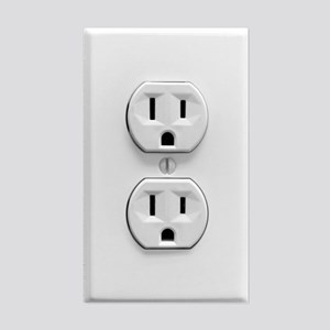Fake Electric Outlet Sticker (Rectangle)
