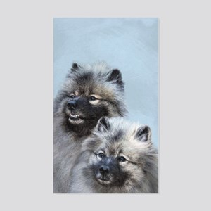 Keeshond Brothers Sticker (Rectangle)