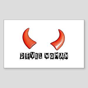DEVIL WOMAN Rectangle Sticker