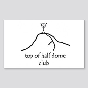 Top Of Half Dome Club Rectangle Sticker