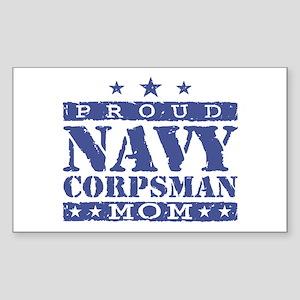 Navy Corpsman Mom Sticker (Rectangle)
