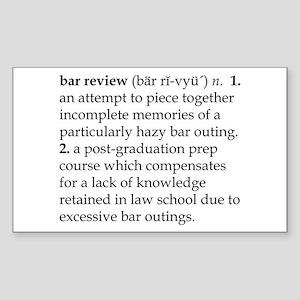 Bar Review Sticker