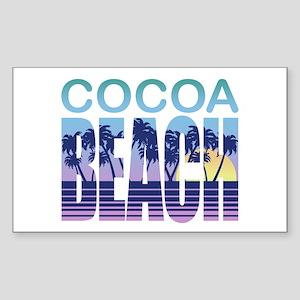 Cocoa Beach Sticker (Rectangle)