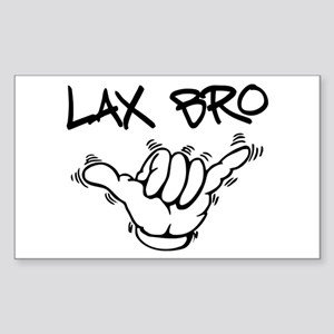 Hang Loose Lax Bro Sticker (Rectangle)