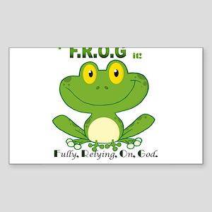 F.R.O.G. Fully, Relying,On,God Sticker