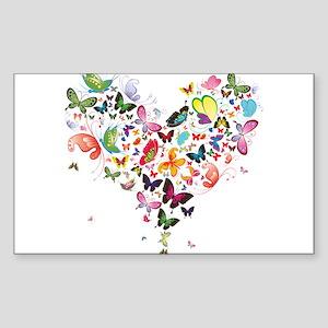 Heart of Butterflies Sticker