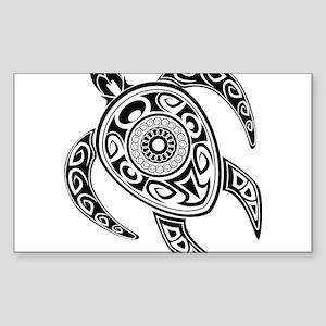 Black Hawaiian Turtle-2 Sticker