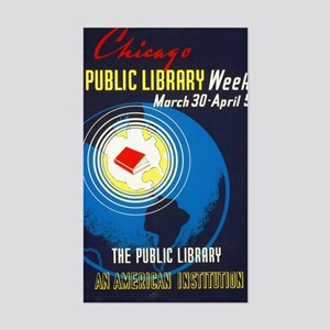 Public Library: An American In Sticker (Rectangle)