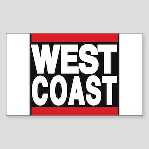 west coast red Sticker