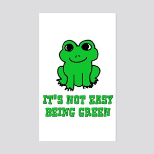 Not Easy Being Green Frog Rectangle Sticker
