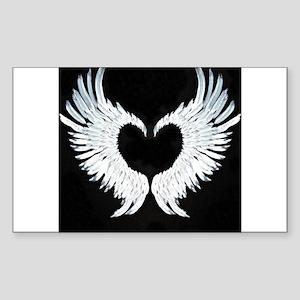 Angelwings heart Sticker (Rectangle)