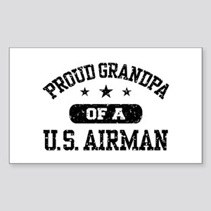 Proud Grandpa of a US Airman Sticker (Rectangle)