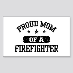 Proud Mom of a Firefighter Sticker (Rectangle)