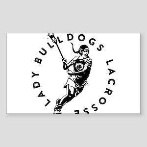 Bulldogs Girl Sticker