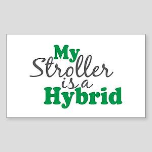 Stroller is a Hybrid Rectangle Sticker