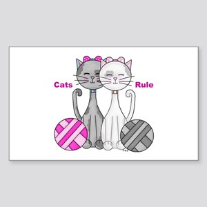 Cats Rule Sticker (Rectangle)