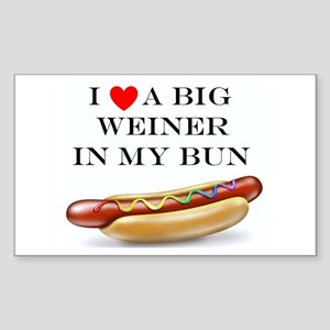 I Love Weiner Sticker (Rectangle)