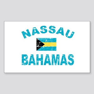 Nassau Bahamas designs Sticker (Rectangle)