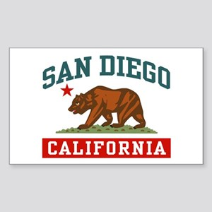 San Diego California Sticker (Rectangle)