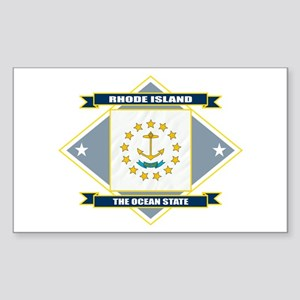 Rhode Island Flag Sticker (Rectangle)