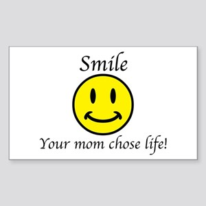 Smile Jesus Sticker (Rectangle)